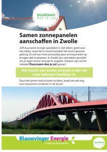 Flyer Duurzaam doe je zo-Zwolle